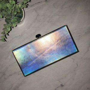 Deux lux iridescent box clutch